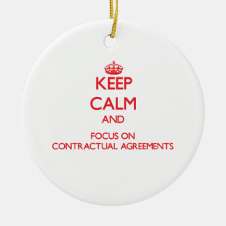 Keep Calm and focus on Contractual Agreements Double-Sided Ceramic Round Christmas Ornament
