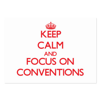 Keep Calm and focus on Conventions Large Business Cards (Pack Of 100)