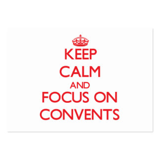 Keep Calm and focus on Convents Business Card Template