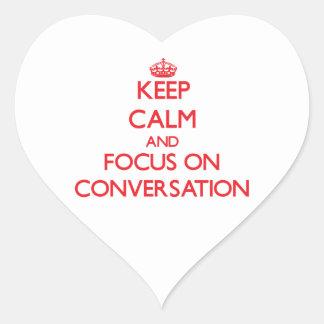 Keep Calm and focus on Conversation Sticker