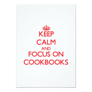 Keep Calm and focus on Cookbooks Personalized Announcements