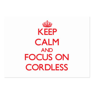 Keep Calm and focus on Cordless Large Business Cards (Pack Of 100)