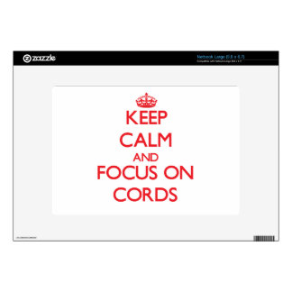 Keep Calm and focus on Cords Netbook Decals
