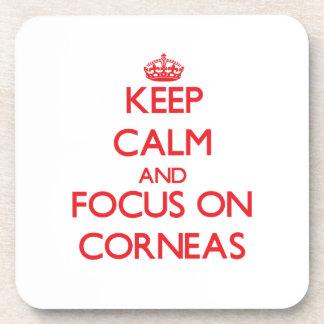 Keep Calm and focus on Corneas Coaster