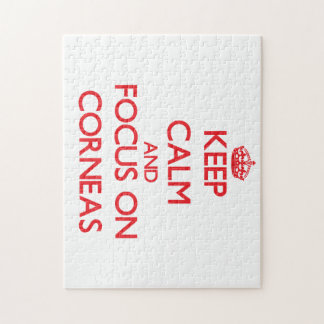 Keep Calm and focus on Corneas Puzzles