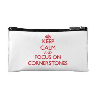 Keep Calm and focus on Cornerstones Makeup Bag