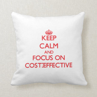 Keep Calm and focus on Cost-Effective Throw Pillows