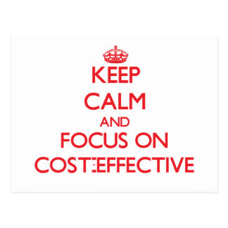 Keep Calm and focus on Cost-Effective Postcards