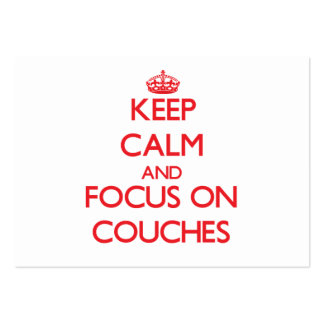 Keep Calm and focus on Couches Large Business Cards (Pack Of 100)