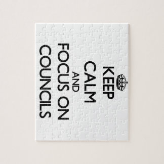 Keep Calm and focus on Councils Jigsaw Puzzles