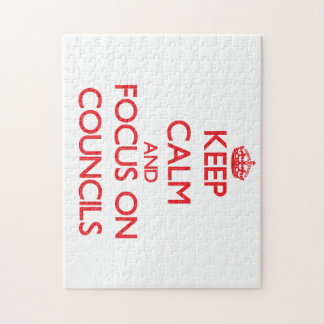 Keep Calm and focus on Councils Puzzle