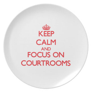 Keep Calm and focus on Courtrooms Plates
