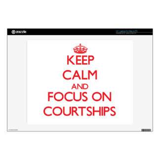 """Keep Calm and focus on Courtships 14"""" Laptop Decal"""