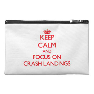 Keep Calm and focus on Crash Landings Travel Accessories Bag