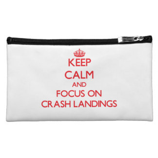 Keep Calm and focus on Crash Landings Makeup Bag