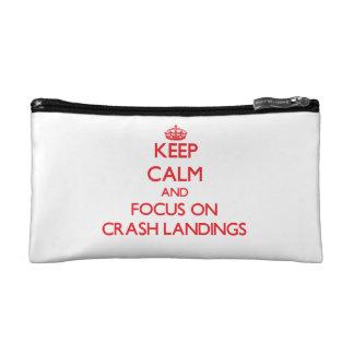 Keep Calm and focus on Crash Landings Cosmetic Bag