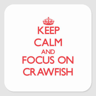 Keep Calm and focus on Crawfish Sticker
