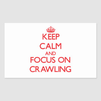 Keep Calm and focus on Crawling Rectangle Sticker