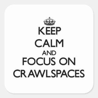 Keep Calm and focus on Crawlspaces Square Sticker
