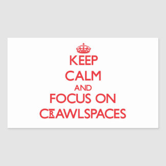 Keep Calm and focus on Crawlspaces Rectangle Sticker
