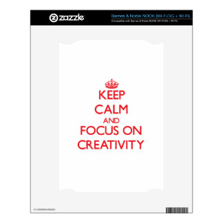 Keep Calm and focus on Creativity Decals For The NOOK