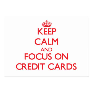 Keep Calm and focus on Credit Cards Large Business Cards (Pack Of 100)