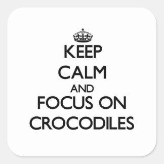 Keep calm and focus on Crocodiles Stickers