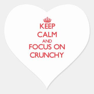 Keep Calm and focus on Crunchy Heart Sticker