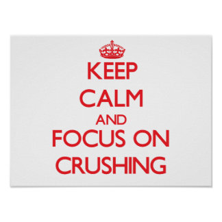 Keep Calm and focus on Crushing Posters