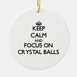 Keep Calm and focus on Crystal Balls Christmas Tree Ornament