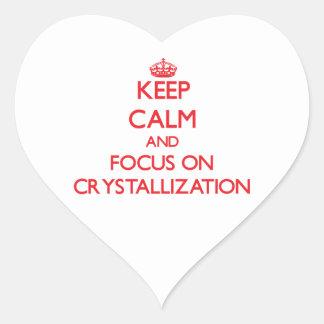 Keep Calm and focus on Crystallization Heart Sticker