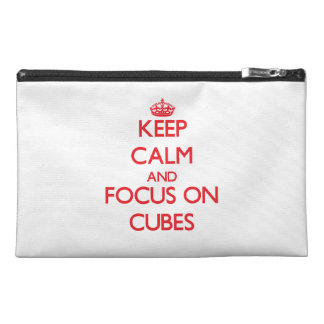 Keep Calm and focus on Cubes Travel Accessories Bags