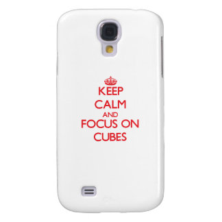 Keep Calm and focus on Cubes Samsung Galaxy S4 Covers