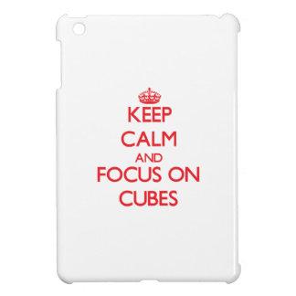 Keep Calm and focus on Cubes iPad Mini Cover
