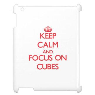 Keep Calm and focus on Cubes iPad Case