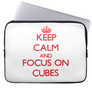 Keep Calm and focus on Cubes Computer Sleeves