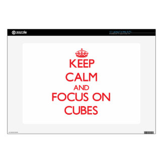 Keep Calm and focus on Cubes Skin For Laptop