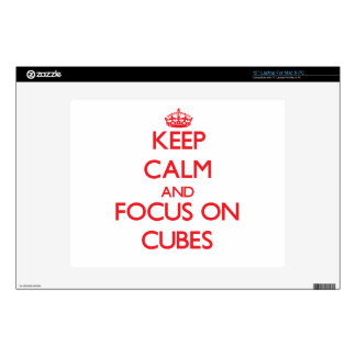 Keep Calm and focus on Cubes Laptop Decals