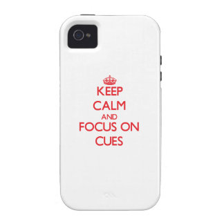 Keep Calm and focus on Cues Vibe iPhone 4 Case