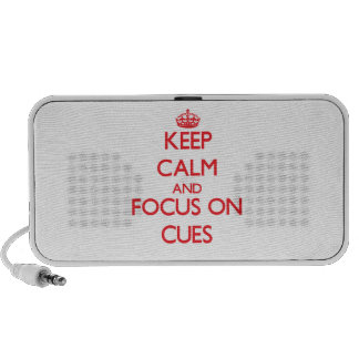 Keep Calm and focus on Cues iPod Speaker