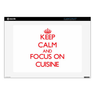 Keep Calm and focus on Cuisine Decal For Laptop