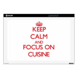Keep Calm and focus on Cuisine Laptop Skins
