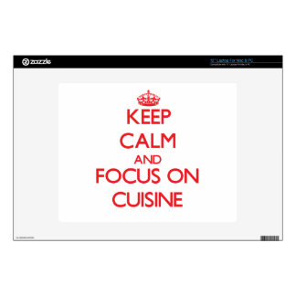 """Keep Calm and focus on Cuisine Decal For 12"""" Laptop"""