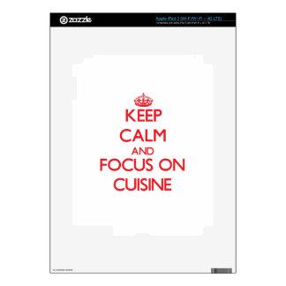 Keep Calm and focus on Cuisine Skin For iPad 3