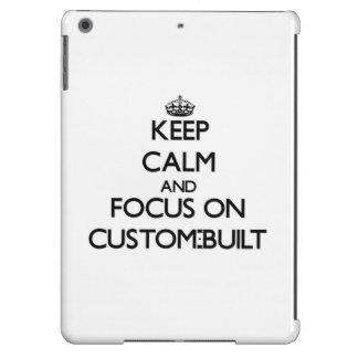 Keep Calm and focus on Custom-Built iPad Air Covers