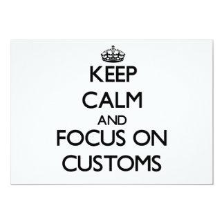 Keep Calm and focus on Customs Card