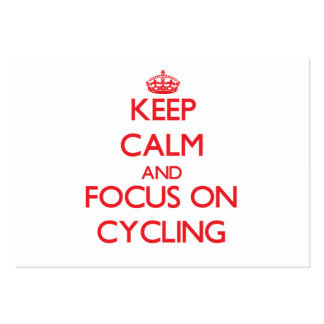 Keep Calm and focus on Cycling Large Business Cards (Pack Of 100)