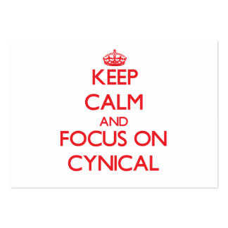 Keep Calm and focus on Cynical Large Business Cards (Pack Of 100)