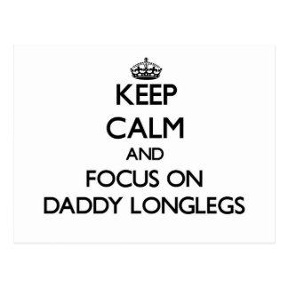 Keep Calm and focus on Daddy Longlegs Postcards