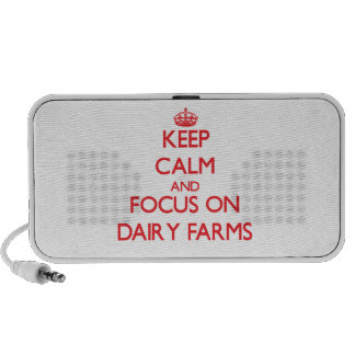 Keep Calm and focus on Dairy Farms Portable Speakers